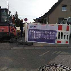 Beginn des zweiten Bauabschnitts in der Karl-Liebknecht-Straße ©MIDEWA